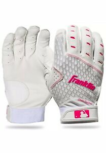 Franklin Fast Pitch 2nd-Skinz Batting Gloves - White/Pink - Women's Large - New