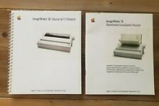 Lot 2 Manuels FR ImageWriter II + sheetfeeder - TBE  Vintage Apple 2 // Mac Lisa