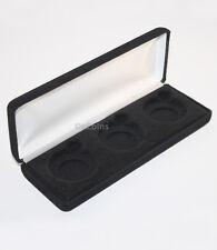 Lot of 5 Black Felt COIN DISPLAY GIFT METAL DELUXE BOX for 3-Half Dollars US JFK