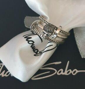 Thomas Sabo Rebel At Heart 3er Ring Scull Gr.56