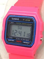 Ladies Pink Casio F-91W Watch Excellent Condition Fully Working Joblot House