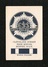 CLEVELAND STREET HIGH SCHOOL Surrey Hills Sydney NSW original  Printed 1929 card