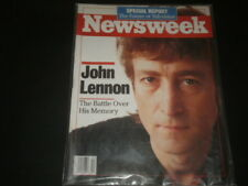 Beatles John Lennon Newsweek Magazine Battle Over His Memory October 17,1988