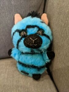 "YooHoo & Friends Aurora World Stripee Zebra Plush 6"" Blue Stuffed Animal"