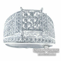 WOMEN'S LADIES 14K WHITE GOLD FINISH LAB DIAMOND ENGAGEMENT WEDDING RING BAND