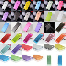 Ultra Thin Glossy Clear Transparent Back Case Cover Skin For iPhone 5 G 5S 4 4S