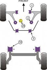 POWERFLEX  FULL BUSH KIT FIAT 500  INC ABARTH 2007 ON