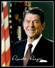 Ronald Reagan Autograph Repro Photo 8X10  President Official Portrait