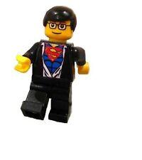Custom Designed Minifigure Clark Kent Changing to Superman Printed On LEGO Parts