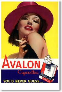 Avalon Cigarettes - You'd Never Guess - Vintage Art Print Advertisement POSTER