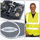 Eurolites coche van Faro Beam reflectores desviadores dobladores de viajes europeas