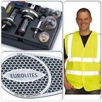 Car Spare Bulb / Fuse Kit & Eurolites Beam Bender Reflector & Hi Vis Safety Vest