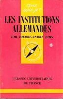 QUE SAIS-JE N° 1448 - LES INSTITUTIONS ALLEMANDES