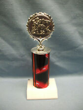 silver action football trophy award marble red