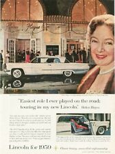 1959 Ford Motor Company PRINT AD Lincoln Premiere Coupe 2-Dr Helen Hayes