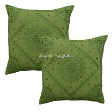 Decorative Throw Pillow Covers 24 x 24 Cotton 60x60 cm Embroidered Cushion Cover