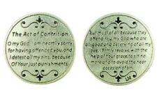"""Devotional Pocket Token Coin with Catholic Church Prayer """"The Act of Contrition"""""""