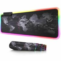 New RGB Large Gaming Mouse Pad Led Backlight Desk Keyboard Mat Extended Mousepad