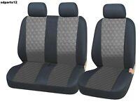 Renault Trafic Master Coprisedili Grigio Eco Pelle Copri Sedili 2+1 Universale