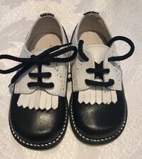 GALLUCCI Baby Black And White Leather Shoes Sz 20 Made In Italy
