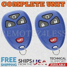 2 For 2007 2008 2009 2010 2011 2012 2013 2014 Chevrolet Equinox Remote Rs Blue