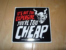 "STONE ARROGANT BASTARD ALE Too Cheap 4"" STICKER decal craft beer brewing brewery"
