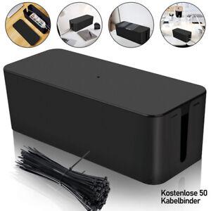 Kabelbox Kabelbinder M/L Kabelmanagement Kabel Box mit Deckel
