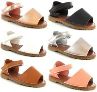 GIRLS KIDS SLINGBACK SPANISH MENORCAN PEEP TOE FANCY CHILDREN SUMMER SANDALS SZ