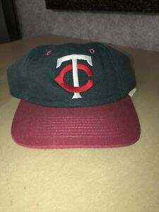 Minnesota Twins Jean Hat Red And Blue Rare MLB Baseball Strap back