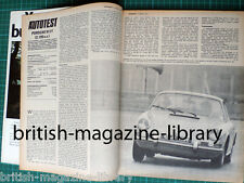 Autocar 1970 South African Grand Prix Report Citroen SM - Road Test Porsche 911T