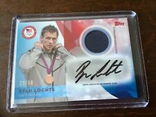 2016 Ryan Lochte Swimming Olympic #25/50 Autograph Relic Card USAR-RL, NR-MINT