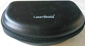 "Pre-owned Black Laser Shield Glasses/Sunglasses Case 7"" x 4"""