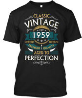 Classic Vintage 1959 Aged To Perfection - Est Limited Hanes Tagless Tee T-Shirt