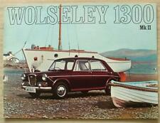 WOLSELEY 1300 Mark II Car Sales Brochure 1968-69 #2586
