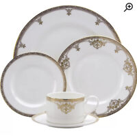 New Oneida Golden Michelangelo Bone China 5 Piece Place Setting Set Service For1