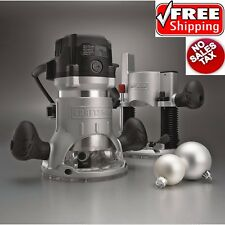 Craftsman 12 AMP 2 HP Fixed Plunge Base Router Soft Start Technology 25000 RPM