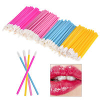 EG_ 50Pcs Disposable Lip Brush Lipstick Gloss Wands Applicator Stick Makeup Tool