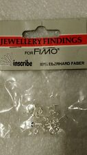 Pack 10 Fimo Ear posts with butterfly -  Silver colour UK SELLER
