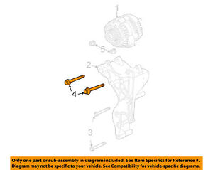 GM OEM Alternator-Mount Bracket Upper Bolt 11516360