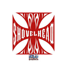 SHOVELHEAD vinyl Sticker for Harley Davidson Fans Knucklehead Truck Car Window