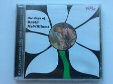 """David McWilliams """"THE DAYS OF DAVID McWILLIAMS"""" RPM label CD"""