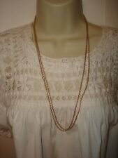 """Vintage 55"""" Length 14k Solid Rose Gold Rollo Chain Necklace Heavy 16.5 gram"""