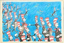 """""""Singing Cats"""" Dr. Seuss (Ted Geisel) Limited Edition Art, Signed & Numbered 850"""