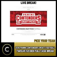 2019 PANINI CONTENDERS DRAFT PICKS 12 BOX FULL CASE BREAK #F156 - PICK YOUR TEAM