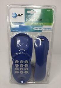 AT&T Design Line Corded Telephone 10 Number Memory Indigo Wall Desk Landline blu