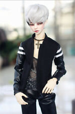 BlackStitching Baseball Jacket For BJD 1/6 1/4 1/3 SD17 Uncle Doll Clothes CMB70