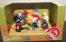 Schleich 41310 The Olympic  SmurfS Box Set Scenery Pack 5 figure Sports Set
