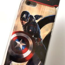 For iPhone 6+ / 6S+ Plus - Hard Back Protector Skin Case Cover Captain America