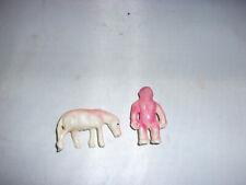 Altes Celluloid-Pferd+Affe-Japan-1930-40er Jahre-Deko-Puppe-Bär