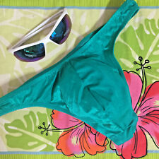 NWOT-MENS SEXY KELLY GREEN SPANDEX THONG BIKINI SWIMSUIT-SZ S